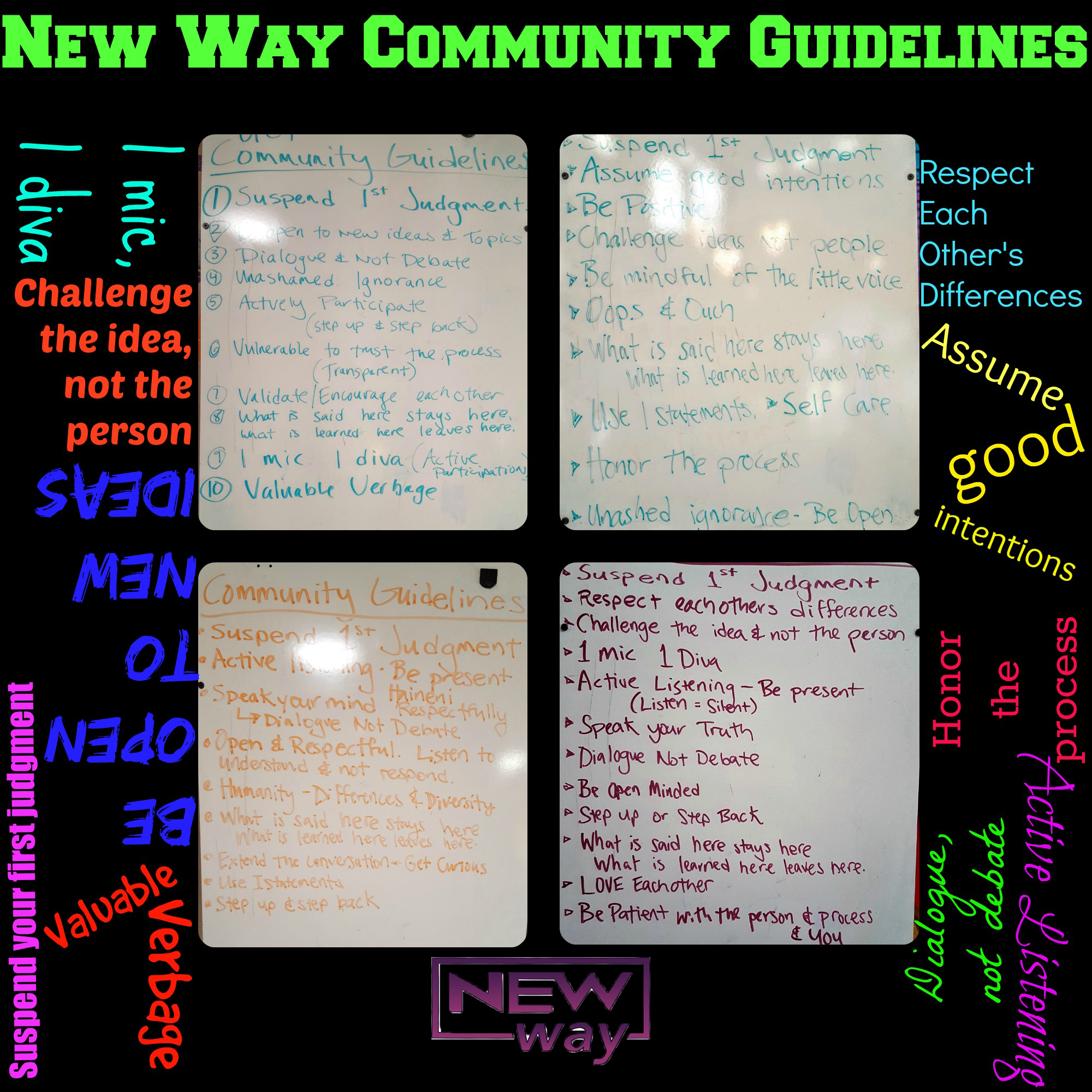 New Way, Community Agreements, Nonviolence Training, Conflict Reconciliation, Alternative Break